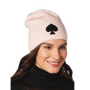 Kate Spade Logo Beanie Hat in Rose Dew
